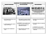 Causes and Effects of the Russian Revolution Illustrated Timeline - No Prep!