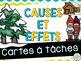 Causes et effets - Cartes à tâches