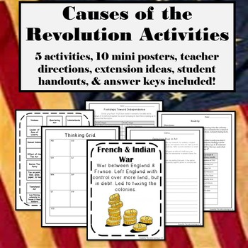 Causes of the American Revolution - Activity Pack