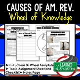 Causes of American Revolution Activity, Wheel of Knowledge Interactive Notebook
