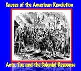 Causes of American Revolution: Acts, Tax & Colonists' Response