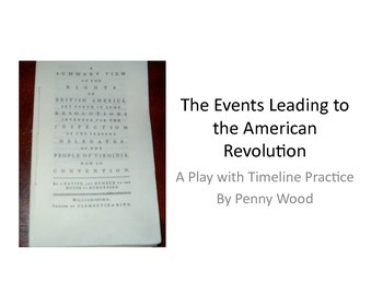 Causes of American Revolution Play with Timeline
