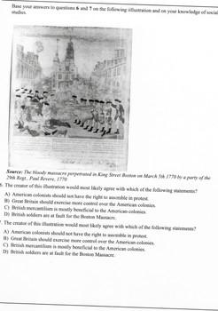 Causes of American Revolution Quiz