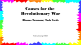 Causes of American Revolutionary War Task Cards