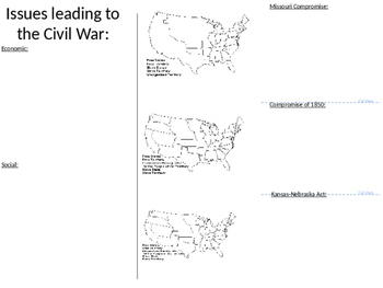 Causes of Civil War Packet