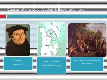 Causes of European Exploration and Colonization of North America