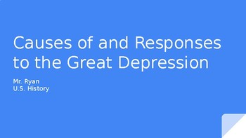 Causes of Great Depression & 1st/2nd New Deal
