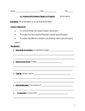 Causes of Industrial Revolution Notes Sheet