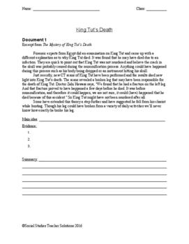 Causes of King Tut's Death Argument