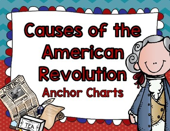 Causes of Revolutionary War Anchor Charts