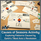 Causes of Seasons Activity: Patterns Caused by Earth's Tilted Axis & Revolution