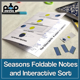 Causes of Seasons Foldable Notes and Sort Activity