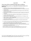 Causes of WWI (Imperialism, Nationalism, Alliances, Militarism)