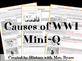 Causes of WWI Mini-Q Worksheet