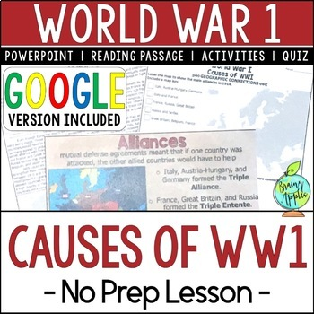 Causes Of Wwi Teaching Resources Teachers Pay Teachers