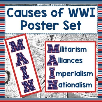 Causes of WWI Poster Set