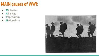Causes of WWI Slides Presentation