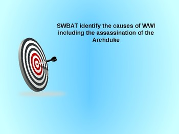 Causes of WWI Powerpoint Presentation