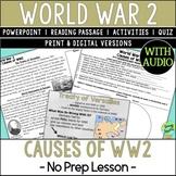 World War 2 Causes, World War II, WW2, WWII