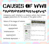 Causes of WWII ... Stations and Inquiry Discussion!