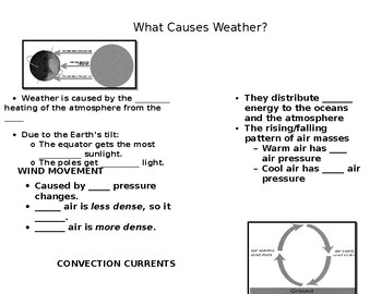 Causes of Weather Notes