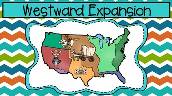 Causes of Westward Expansion Informational Articles, Map, and Graphic Organizers