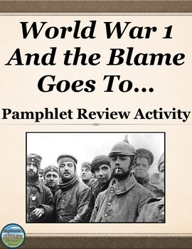 Causes of World War 1 Review Activity