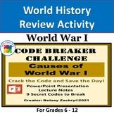 Causes of World War I Code Breaker Challenge on PowerPoint