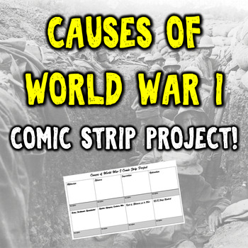 Causes of World War I Comic Strip Project