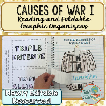 Causes of World War I Foldable Graphic Organizers