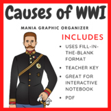 Causes of World War 1: Graphic Organizer (MANIA)