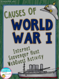 Causes of World War I Internet Scavenger Hunt WebQuest Activity (World War 1)