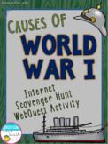 Causes of World War I Internet Scavenger Hunt WebQuest Activity (World War 1)