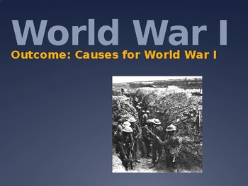 Causes of World War I PowerPoint Lecture