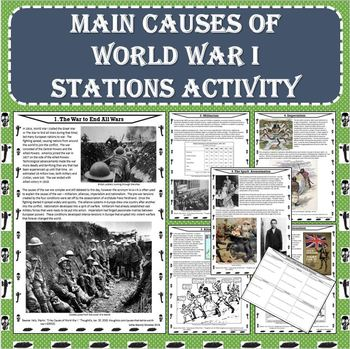 MAIN Causes of World War I (WWI) Stations Activity