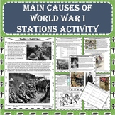 MAIN Causes of World War I (WWI) Stations Activity (PDF an