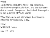 Causes of World War II - 27.1 Powerpoint - World War II