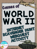 Causes of World War II Internet Scavenger Hunt WebQuest Activity (World War II)