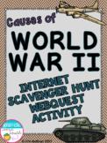 Causes of World War II Internet Scavenger Hunt WebQuest Activity (World War II)