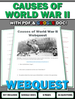 Causes of World War II - Webquest with Key (Google Doc Included)