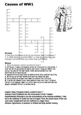Causes of World War One Crossword