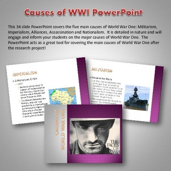 World War One (WWI) Causes - Resource Bundle (Project, Position Paper, PPT, etc)