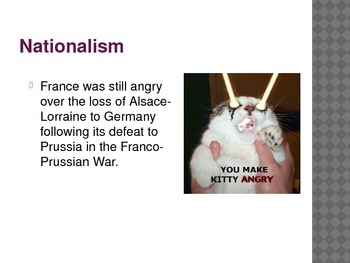 World War One (WWI) Causes - PowerPoint