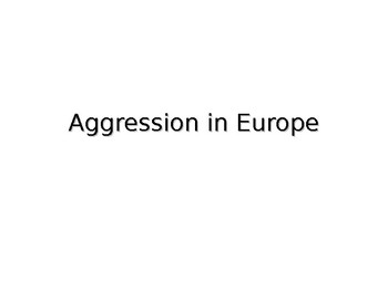 Causes of World War Two In Europe