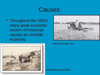 Causes of the American Great Depression