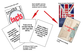 Causes of the American Revolution Card Game