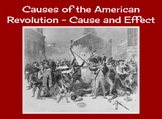 Causes of the American Revolution Cause and Effect