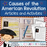 Causes of the American Revolution Informational Articles and Activities
