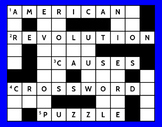 Causes of the American Revolution Crossword Puzzle