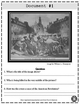 Causes of the American Revolution DBQ